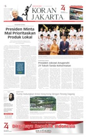 Cover Koran Jakarta 16 Agustus 2019