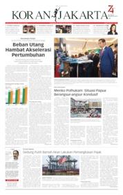 Cover Koran Jakarta 21 Agustus 2019