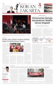 Cover Koran Jakarta 24 Agustus 2019