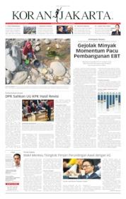 Koran Jakarta Cover 18 September 2019