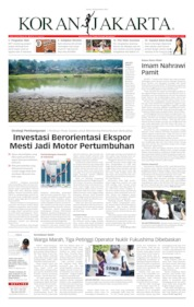 Koran Jakarta Cover 20 September 2019