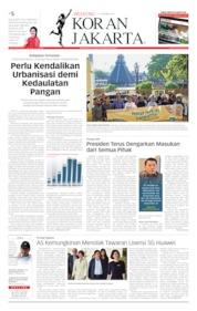 Cover Koran Jakarta 05 Oktober 2019