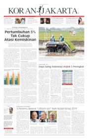 Cover Koran Jakarta 10 Oktober 2019