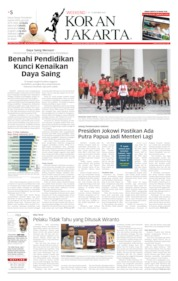 Cover Koran Jakarta 12 Oktober 2019