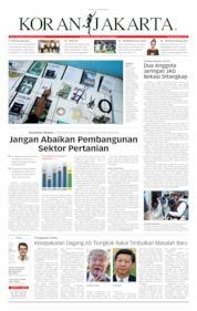 Cover Koran Jakarta 14 Oktober 2019