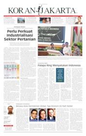 Cover Koran Jakarta 15 Oktober 2019