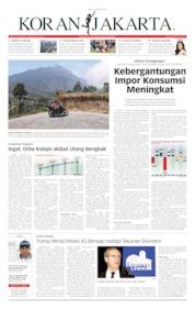 Cover Koran Jakarta 16 Oktober 2019