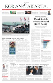 Cover Koran Jakarta 18 Oktober 2019