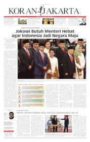 Cover Koran Jakarta 21 Oktober 2019