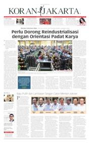Cover Koran Jakarta 22 Oktober 2019