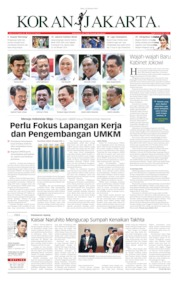 Cover Koran Jakarta 23 Oktober 2019
