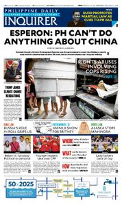 Cover Philippine Daily Inquirer 29 Maret 2017