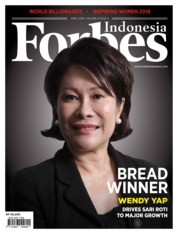 Cover Majalah Forbes Indonesia April 2018