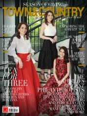 TOWN & COUNTRY Philippines Magazine Cover December–January 2018