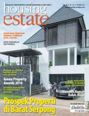Cover Majalah housing estate Oktober 2016