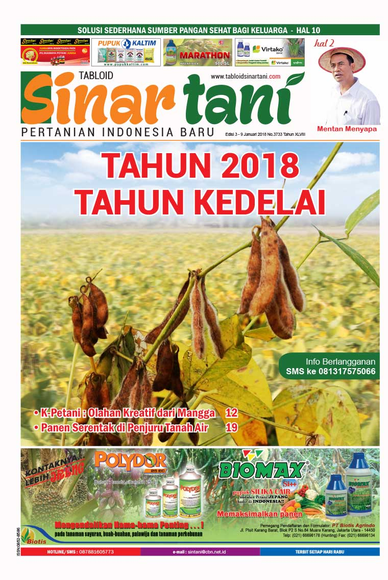 Sinar tani Digital Magazine ED 3733 January 2018
