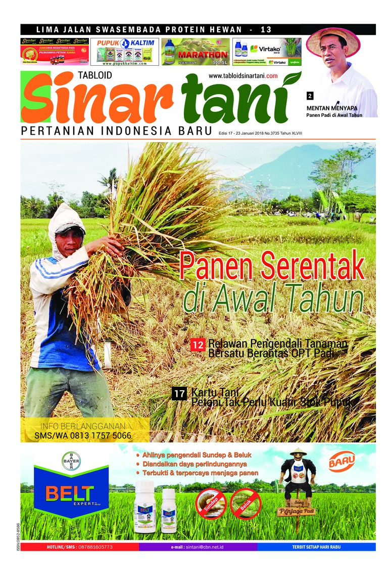 Majalah Digital Sinar tani ED 3735 Januari 2018