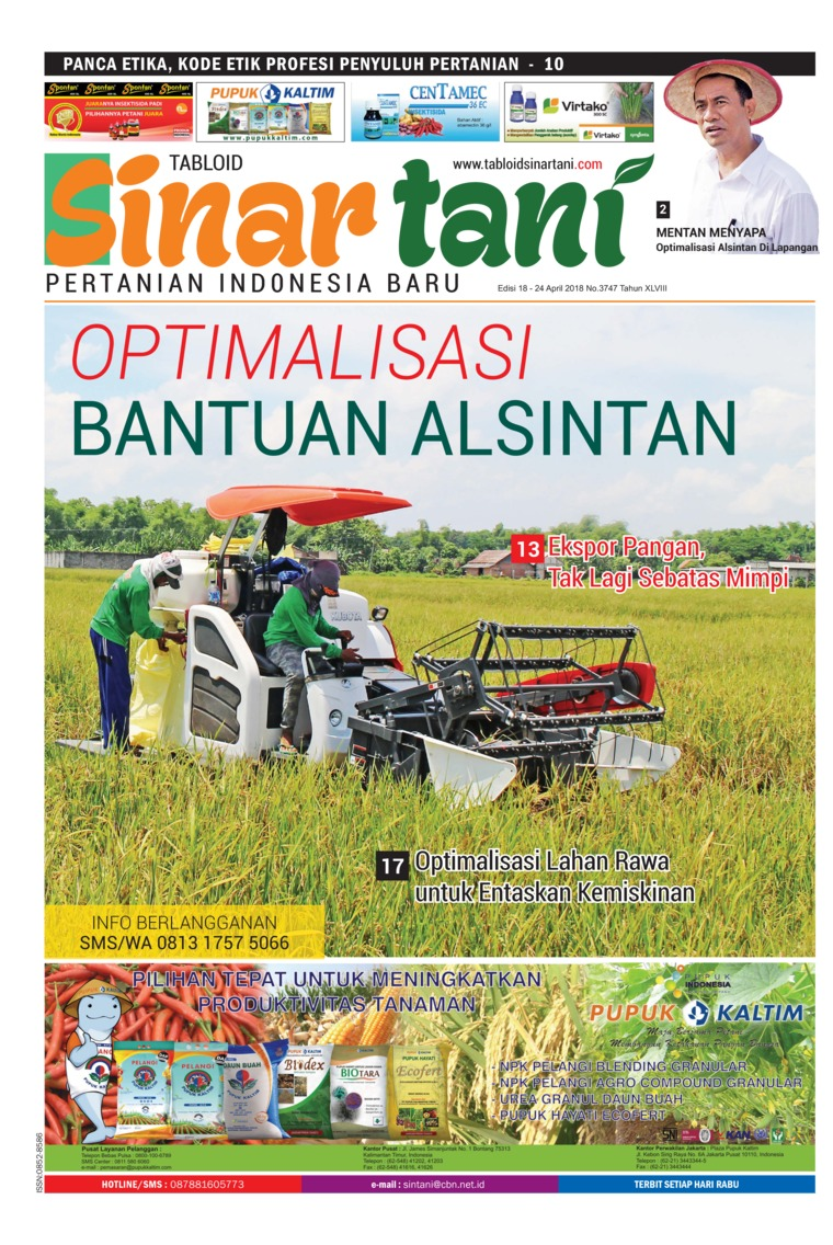 Majalah Digital Sinar tani ED 3747 April 2018