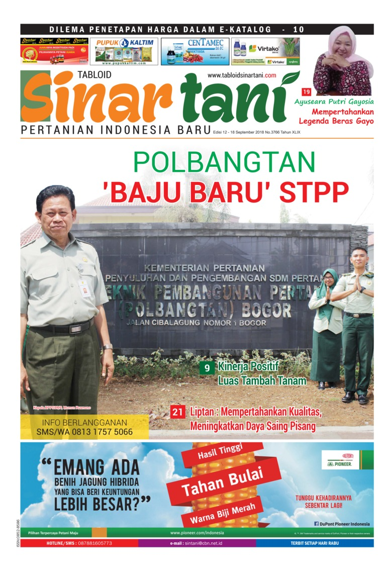 Majalah Digital Sinar tani ED 3766 September 2018