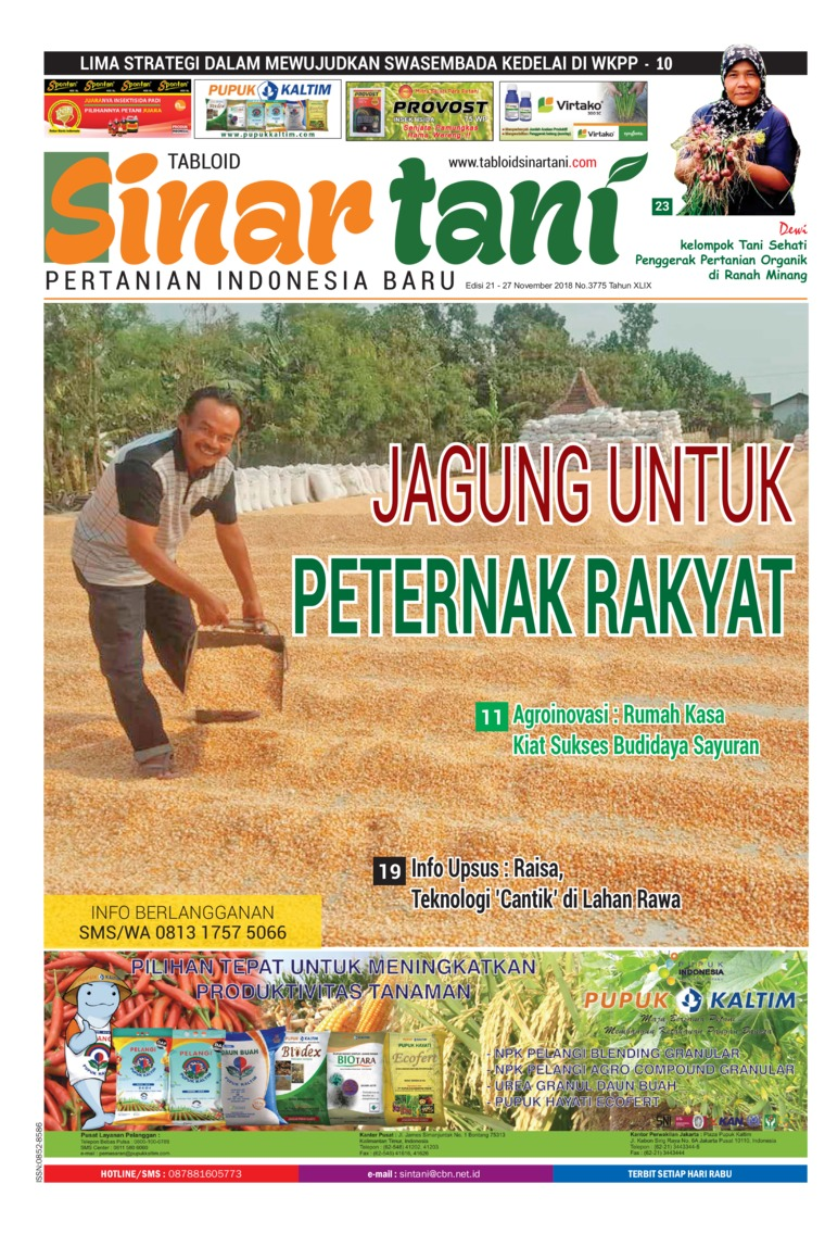 Sinar tani Digital Magazine ED 3775 November 2018