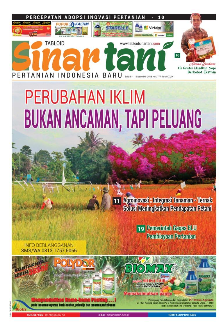 Majalah Digital Sinar tani ED 3777 Desember 2018