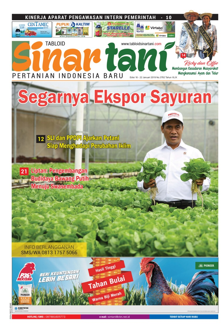 Sinar tani Digital Magazine ED 3782 January 2019