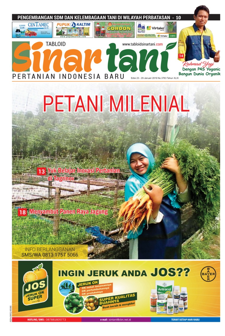 Sinar tani Digital Magazine ED 3783 January 2019