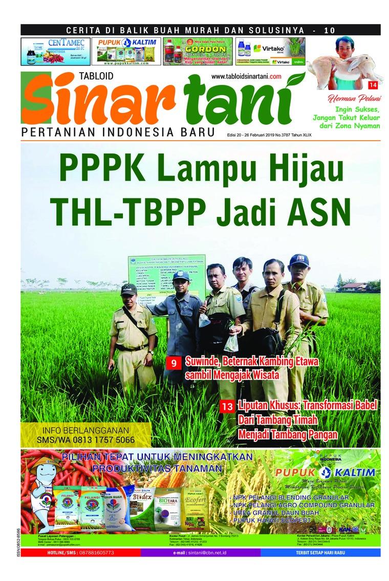 Sinar tani Digital Magazine ED 3787 February 2019