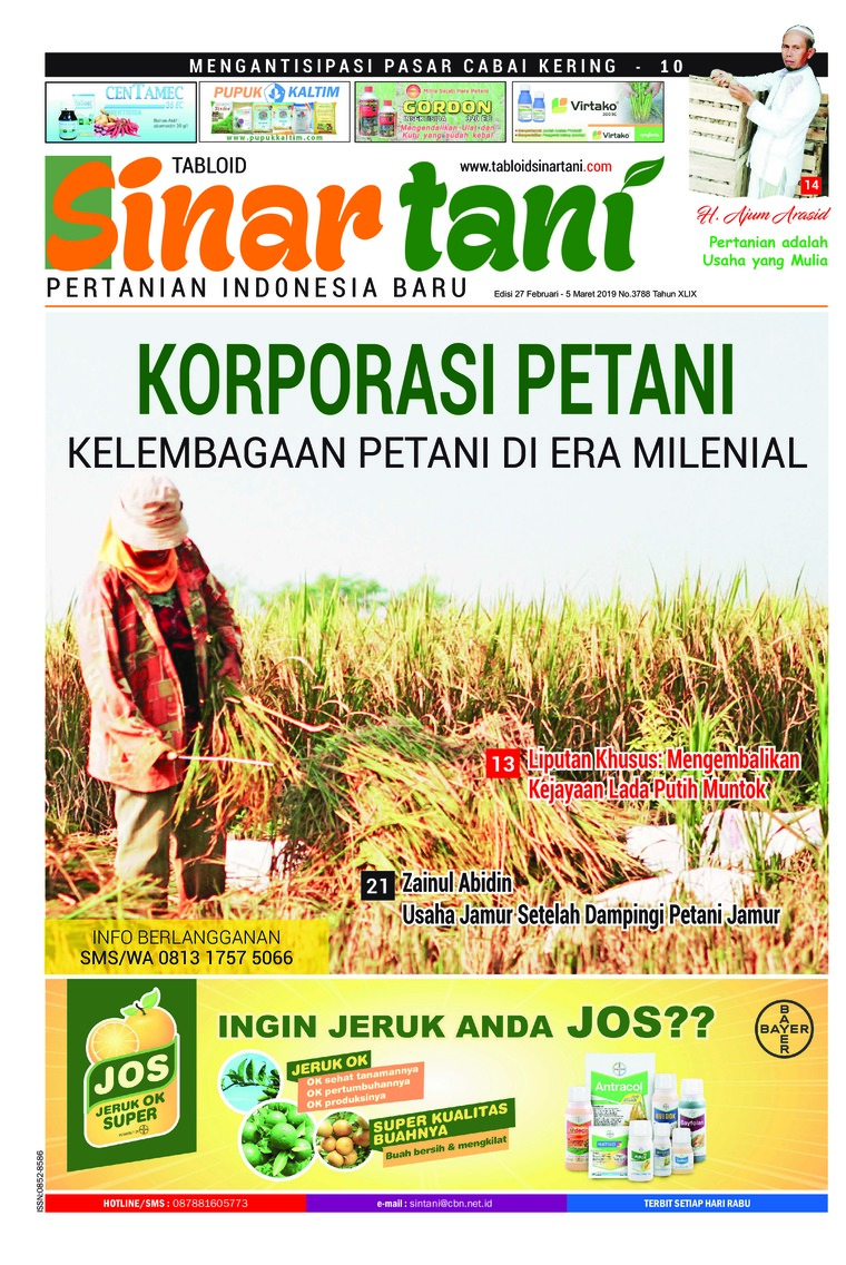 Sinar tani Digital Magazine ED 3788 February 2019