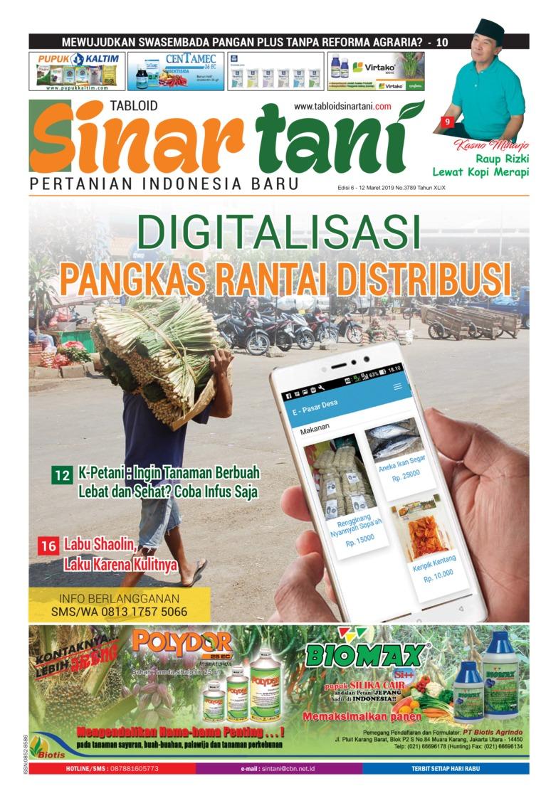 Sinar tani Digital Magazine ED 3789 March 2019