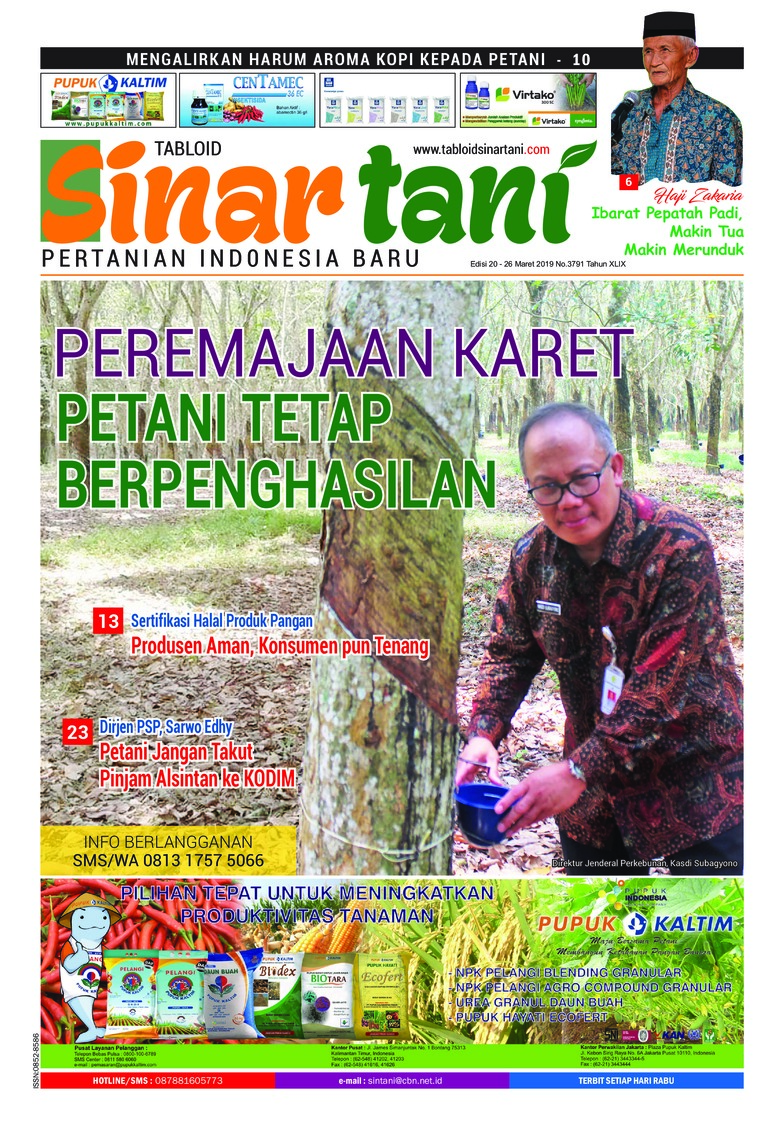 Sinar tani Digital Magazine ED 3791 March 2019
