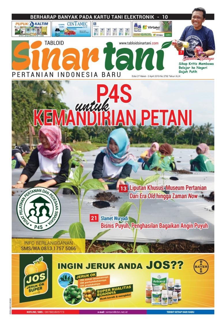 Sinar tani Digital Magazine ED 3792 March 2019