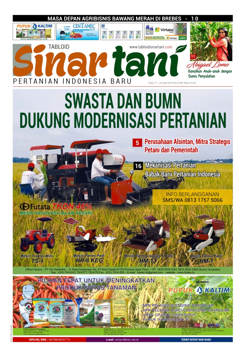 Sinar tani Digital Magazine ED 3795 April 2019