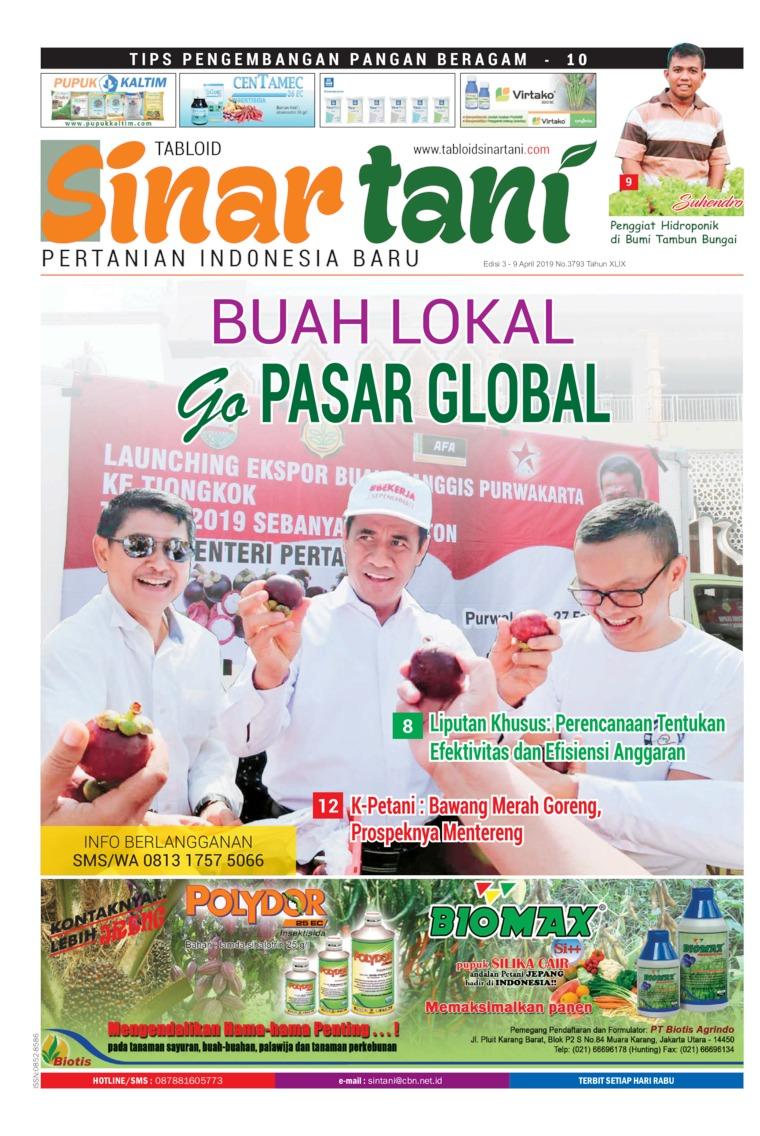 Sinar tani Digital Magazine ED 3793 April 2019
