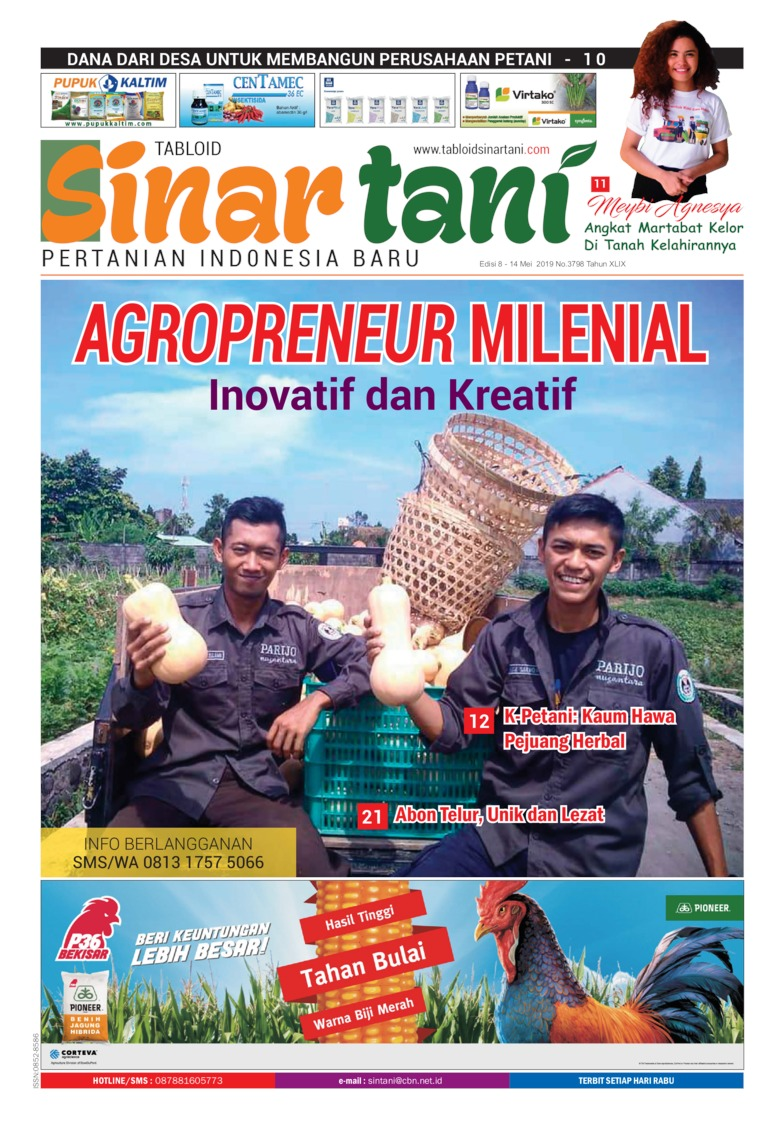 Sinar tani Digital Magazine ED 3798 May 2019