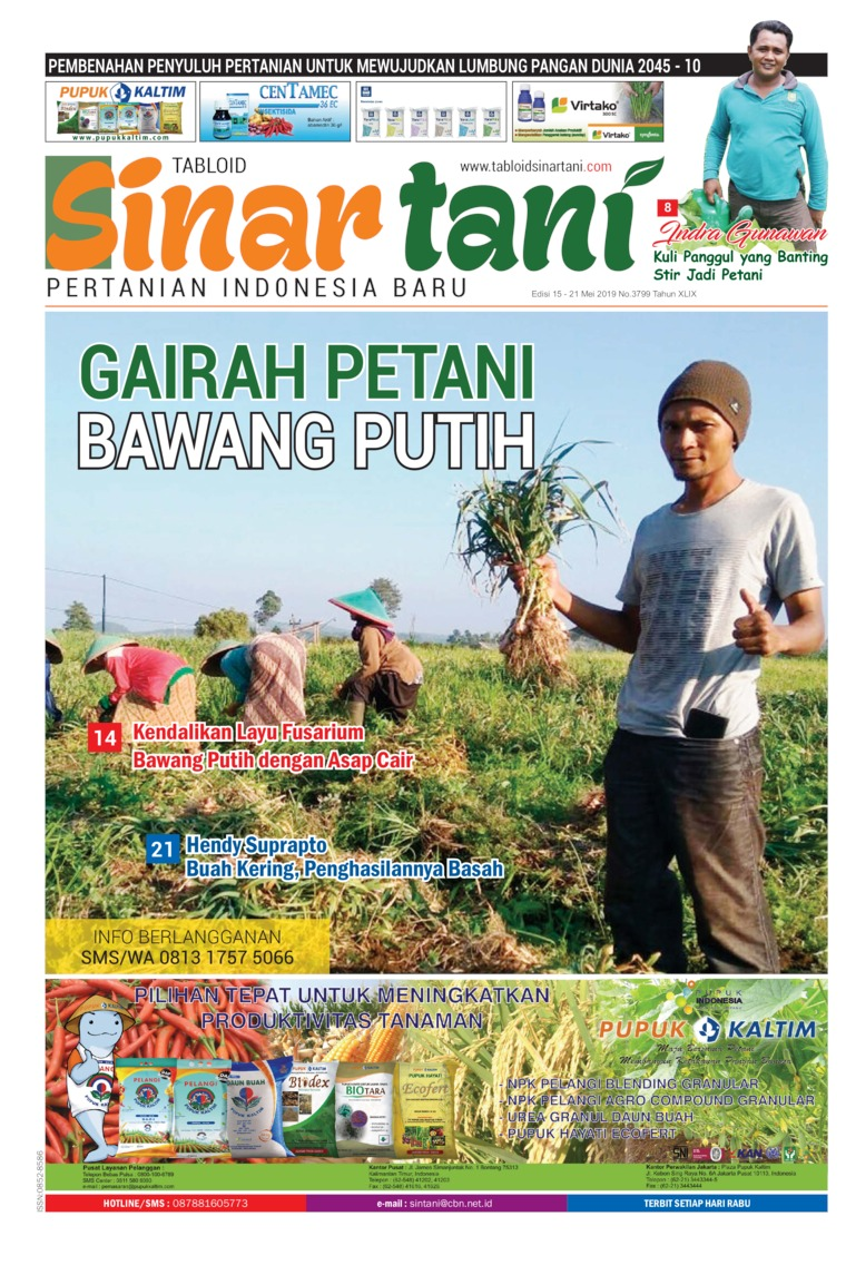 Sinar tani Digital Magazine ED 3799 May 2019