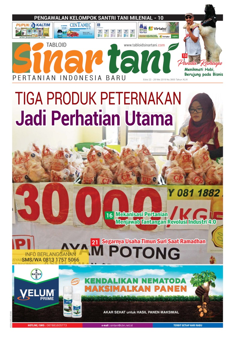 Sinar tani Digital Magazine ED 3800 May 2019