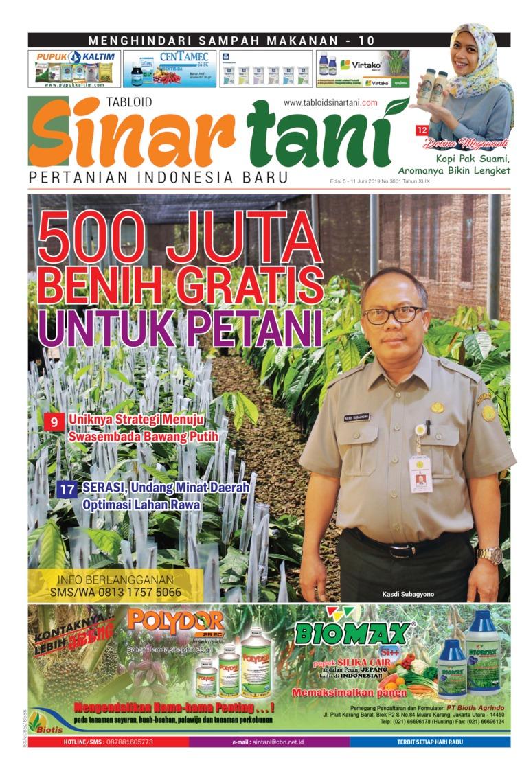 Sinar tani Digital Magazine ED 3801 May 2019