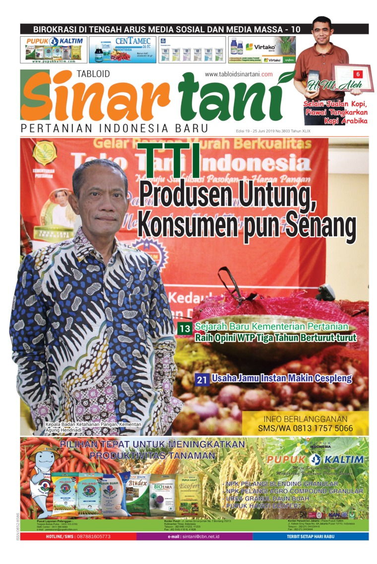 Sinar tani Digital Magazine ED 3803 June 2019