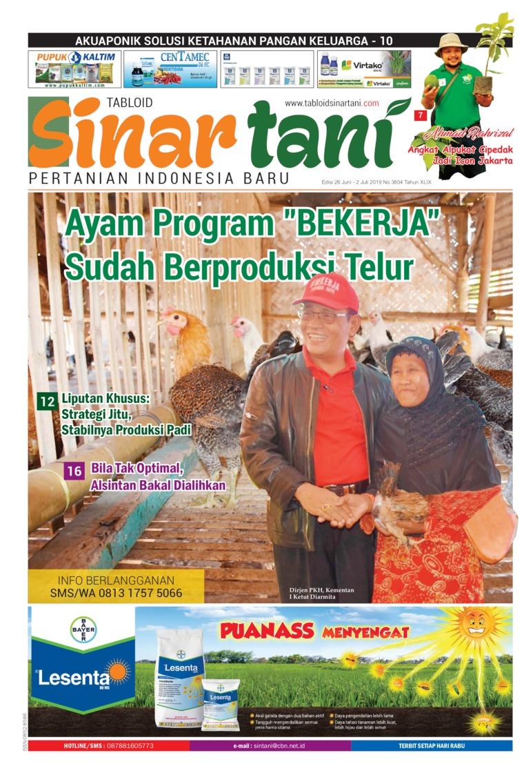 Sinar tani Digital Magazine ED 3804 June 2019
