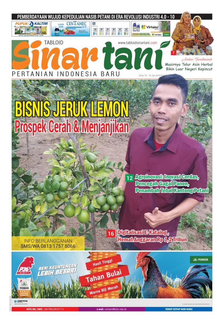 Sinar tani Digital Magazine ED 3806 July 2019