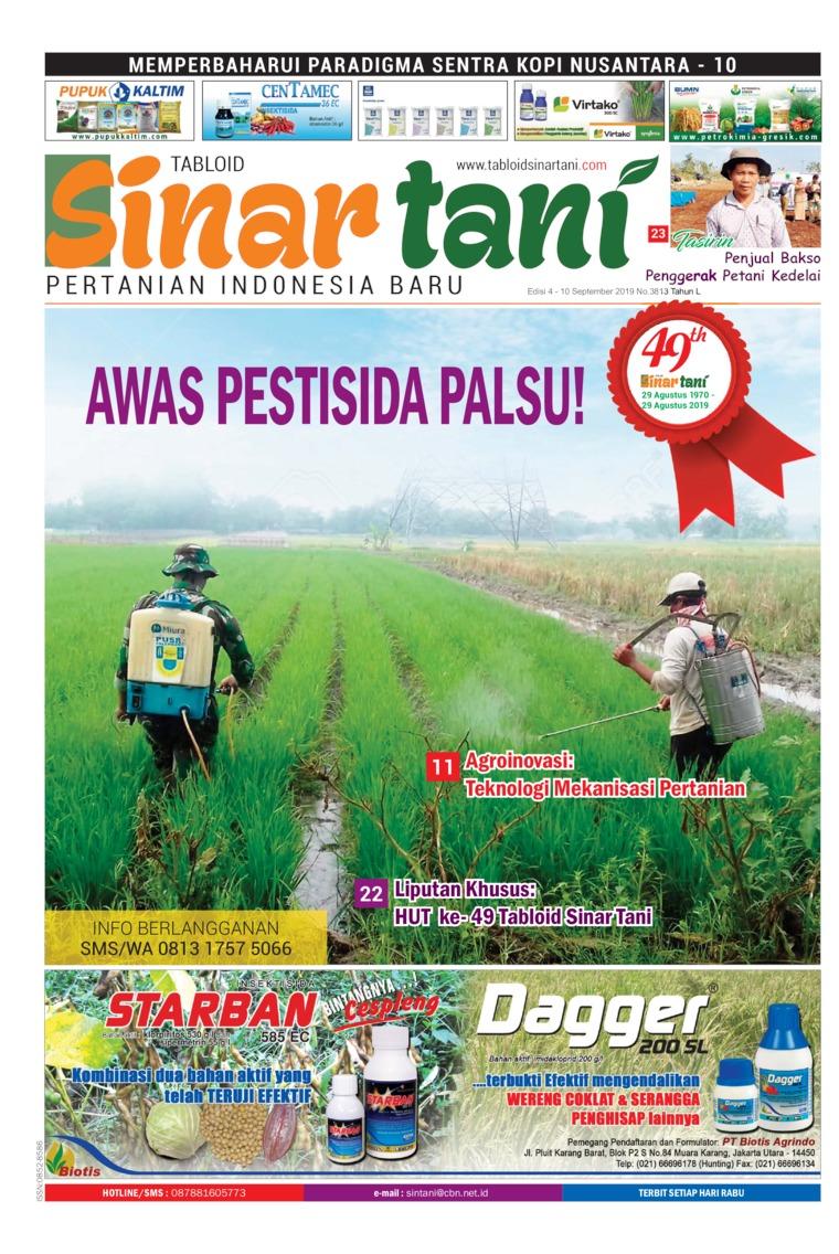 Sinar tani Digital Magazine ED 3813 September 2019