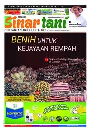 Cover Majalah Sinar tani ED 3739 Februari 2018