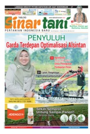 Cover Majalah Sinar tani ED 3768 September 2018