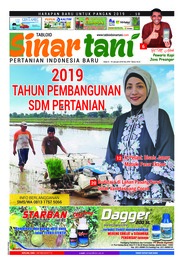 Sinar tani Magazine Cover ED 3781 January 2019