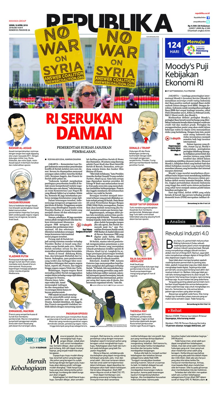Koran Digital Koran Republika 16 April 2018