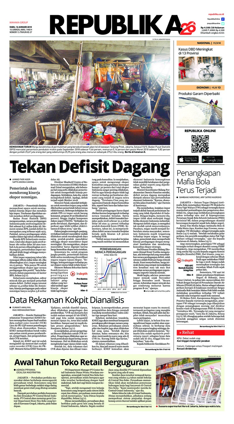 Koran Digital Koran Republika 16 Januari 2019