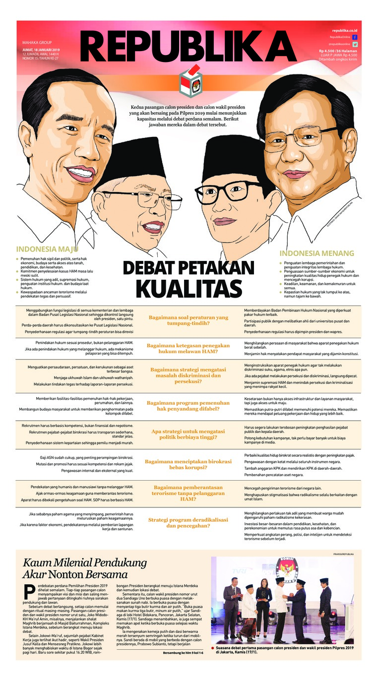 Koran Digital Koran Republika 18 Januari 2019