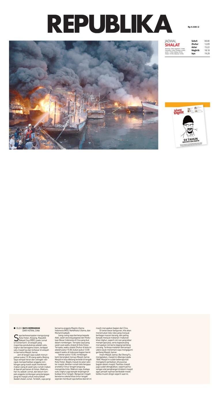 Koran Republika Digital Newspaper 24 February 2019