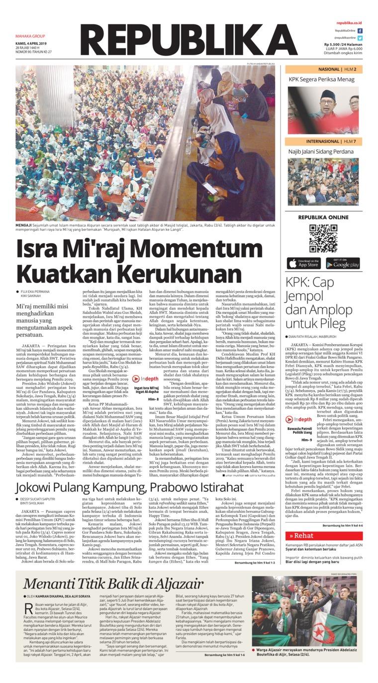 Koran Digital Koran Republika 04 April 2019